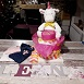 gateau de couches licorne rose fille - photo 2